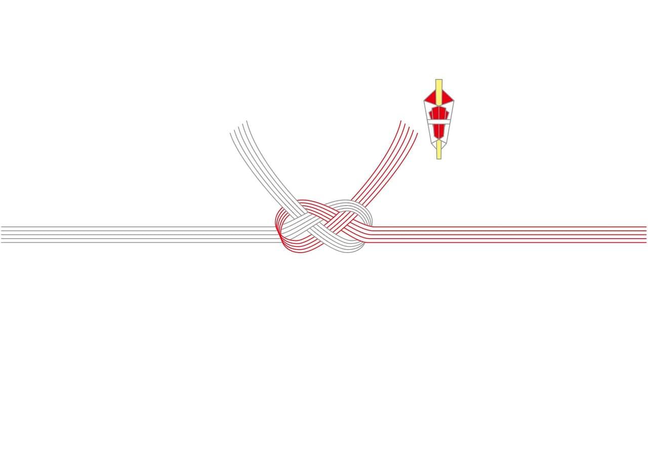 シンプルイラスト無料|のし紙 あわじ結び(あわび結び) 慶事 ベーシック