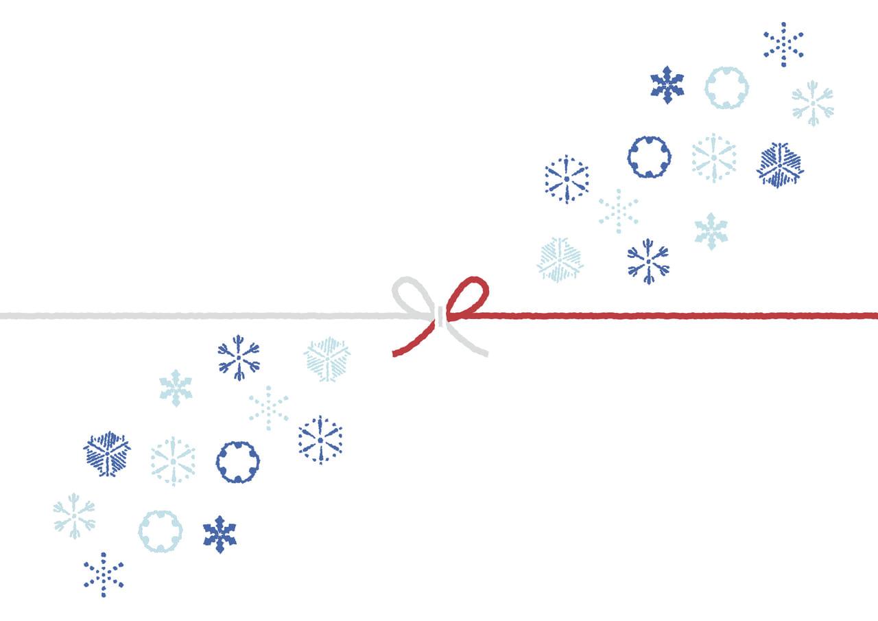 可愛いイラスト無料|のし紙 雪の結晶 慶事