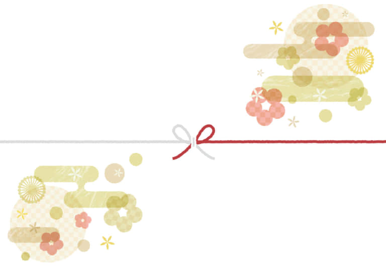 可愛い 和柄を散りばめたのし紙 慶事 イラスト 無料