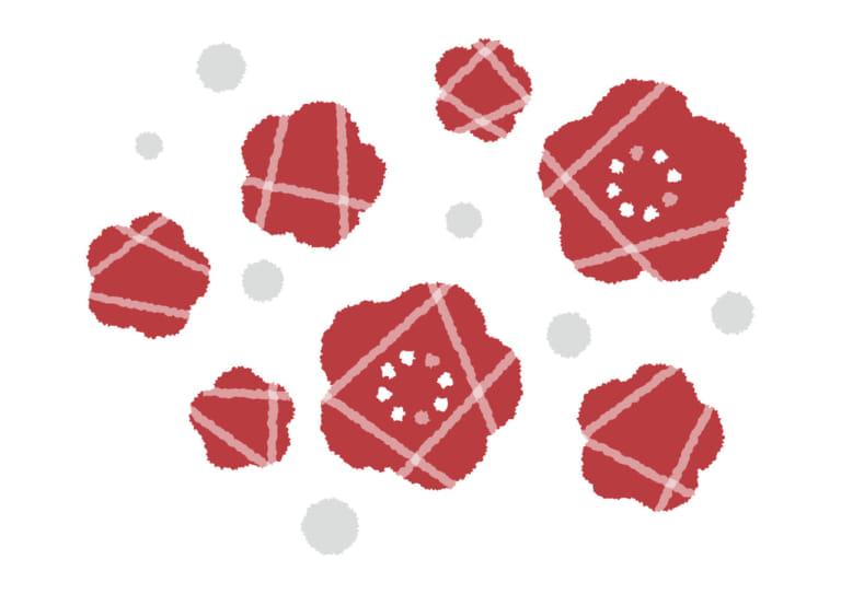 可愛い 梅の花 デフォルメ イラスト 無料