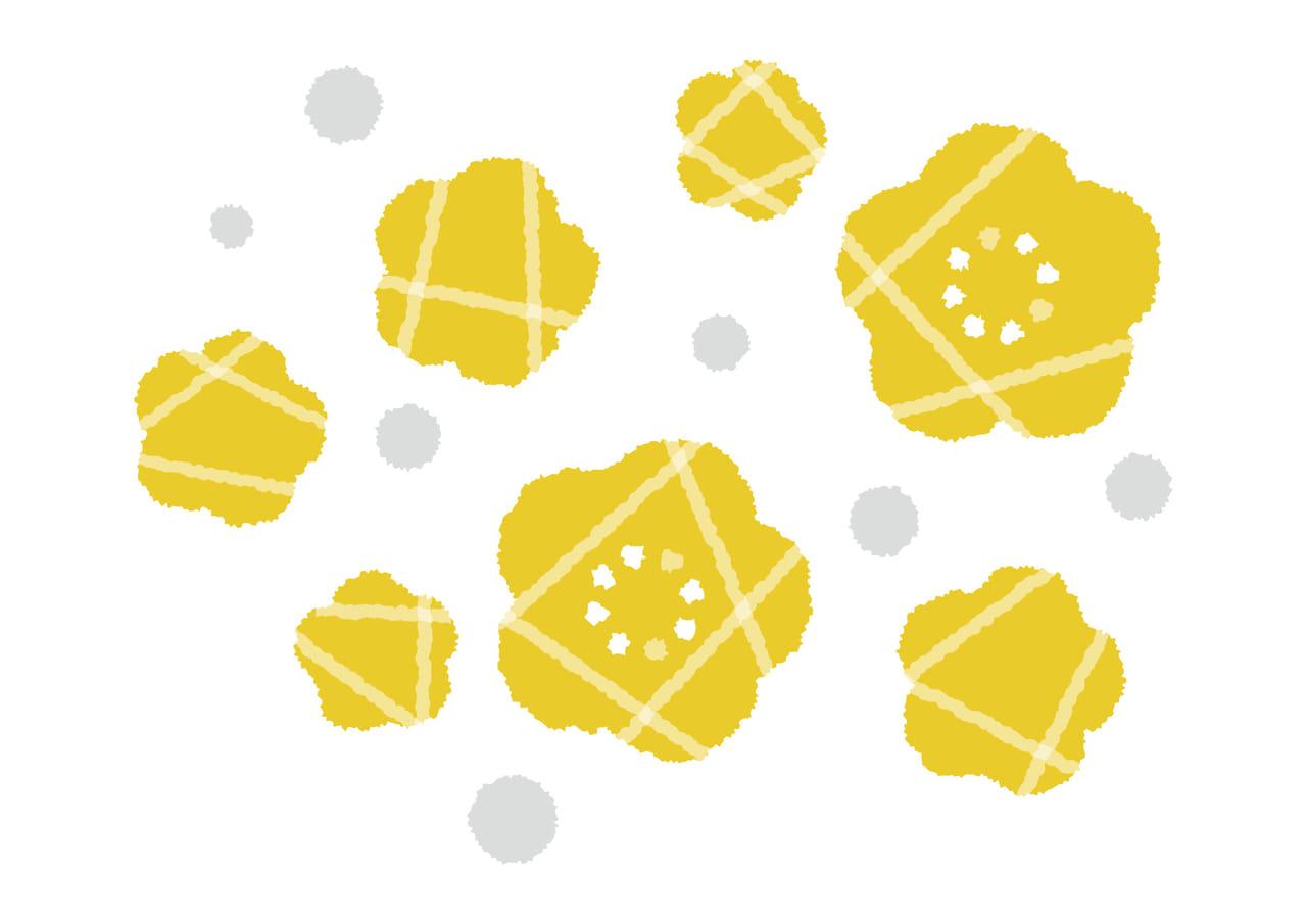 可愛いイラスト無料|黄色い花 デフォルメ