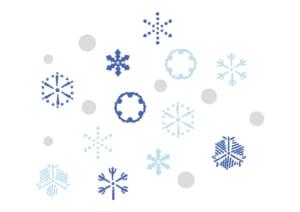 かわいい 雪の結晶 イラスト 無料