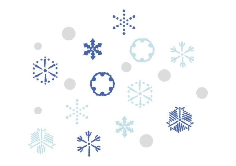 かわいい 江戸時代の雪の結晶 イラスト 無料 無料イラストのイラスト