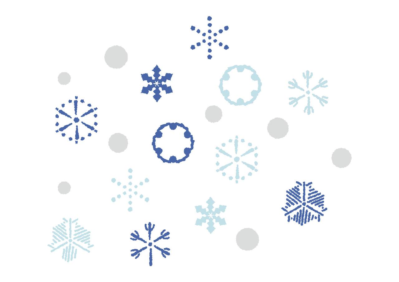 可愛いイラスト無料|江戸時代の雪の結晶