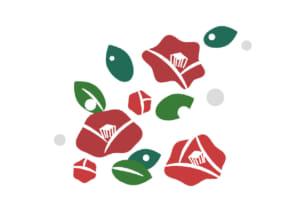 かわいい 椿の花 デフォルメ イラスト 無料