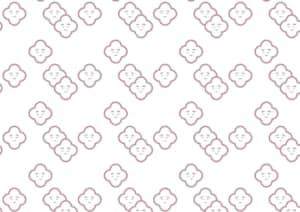 可愛い 和柄 面の皮梅柄 イラスト 無料
