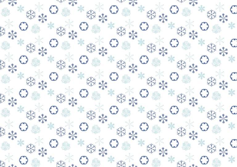 可愛い 和柄 雪の結晶柄 イラスト 無料 無料イラストのイラスト