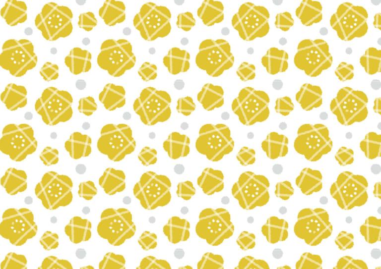 かわいい 黄色い花 背景 イラスト 無料