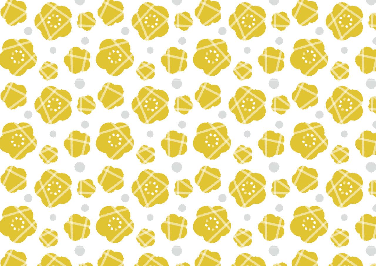 可愛いイラスト無料|黄色い花 背景