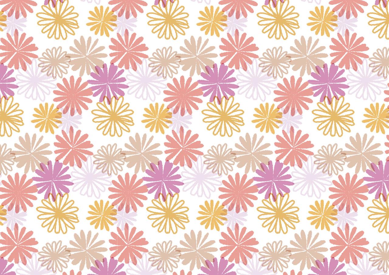可愛いイラスト無料|マーガレットの花 背景