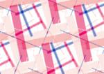かわいい 背景 長方形 ピンク ランダム イラスト 無料