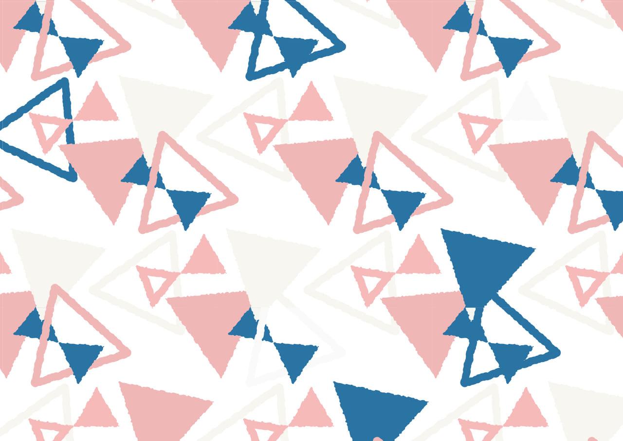 可愛いイラスト無料|背景 三角形 ピンク色