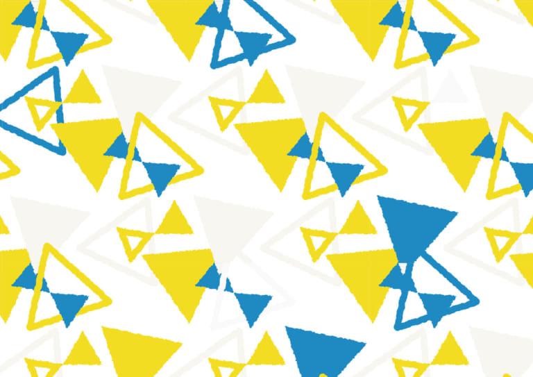 かわいい 背景 三角形 黄色 イラスト 無料
