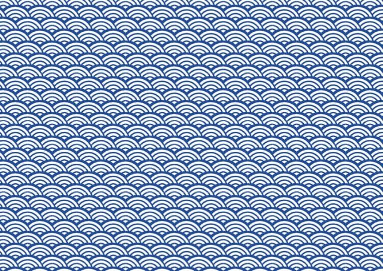 可愛い 和柄 青海波柄 イラスト 無料