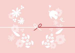 かわいい のし紙 鳥 花 カジュアル イラスト 無料