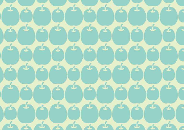 かわいい 背景 青りんご イラスト 無料
