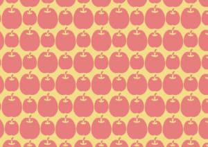 かわいい 背景 りんご イラスト 無料