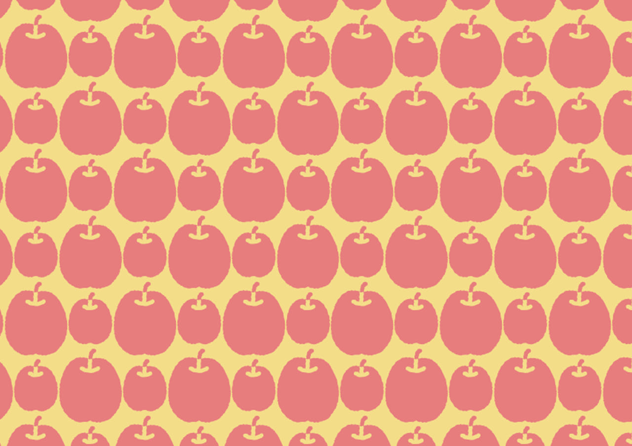 可愛いイラスト無料|背景 りんご