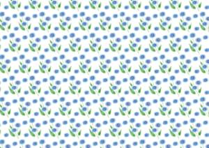 かわいい 背景 水彩 青色 小花 イラスト 無料