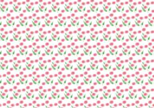かわいい 背景 水彩 ピンク色 小花 イラスト 無料