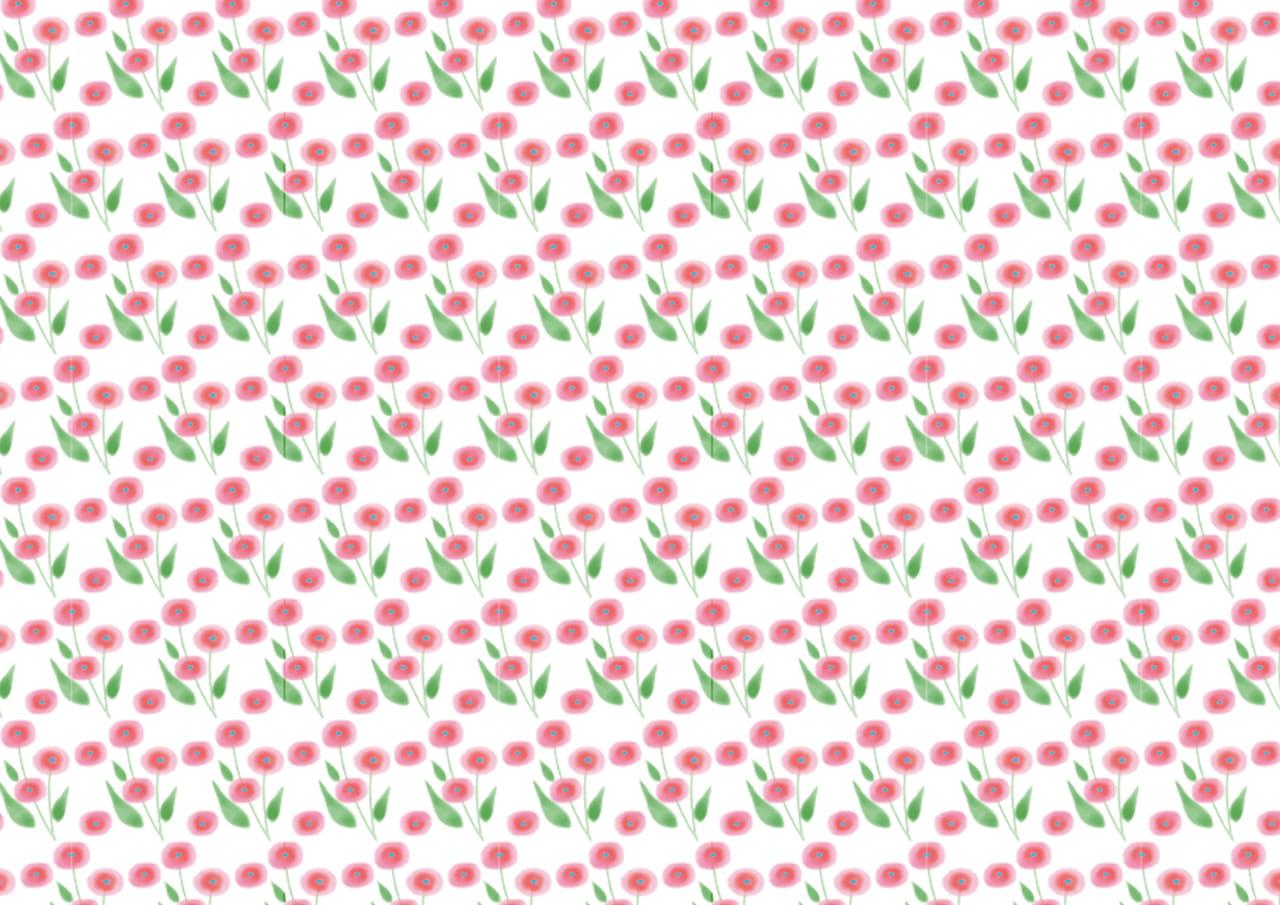 可愛いイラスト無料|背景 水彩 ピンク色 小花