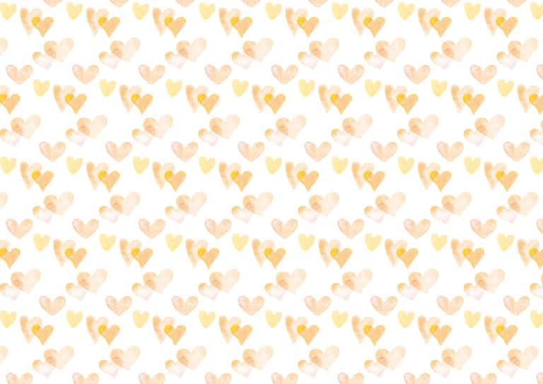 水彩 ハート 背景 パターン 黄色 イラスト 無料