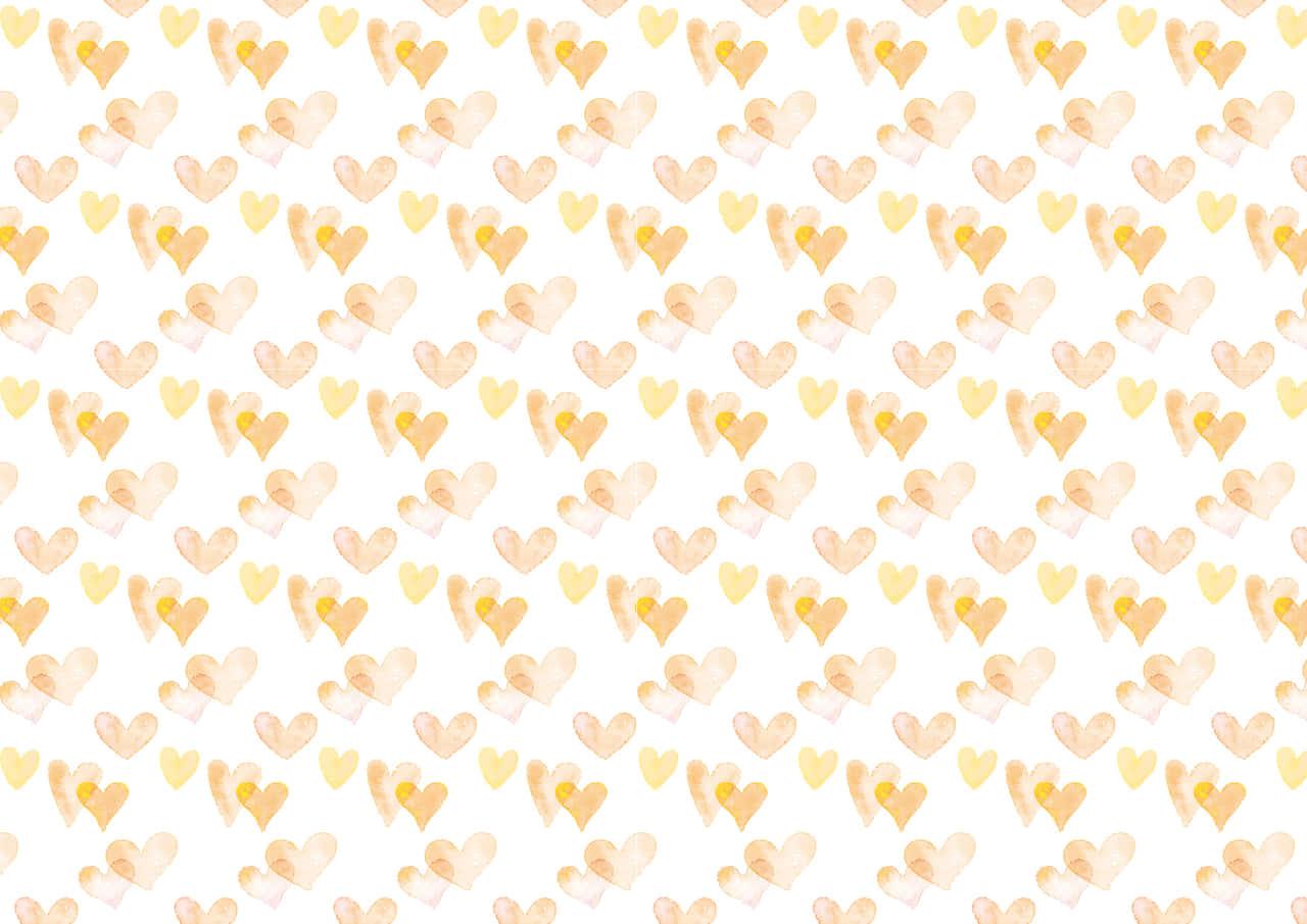 おしゃれなイラスト無料|水彩 ハート 背景 パターン 黄色