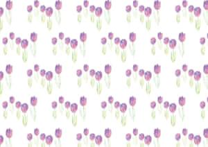 水彩 チューリップ 背景 パターン 紫色 イラスト 無料