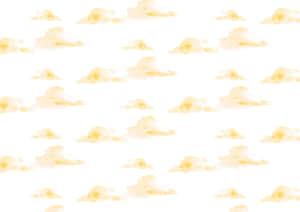水彩 雲 背景 パターン 黄色 イラスト 無料