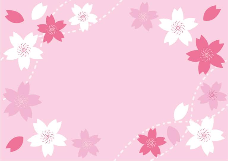 桜の花 フレーム ピンク イラスト 無料