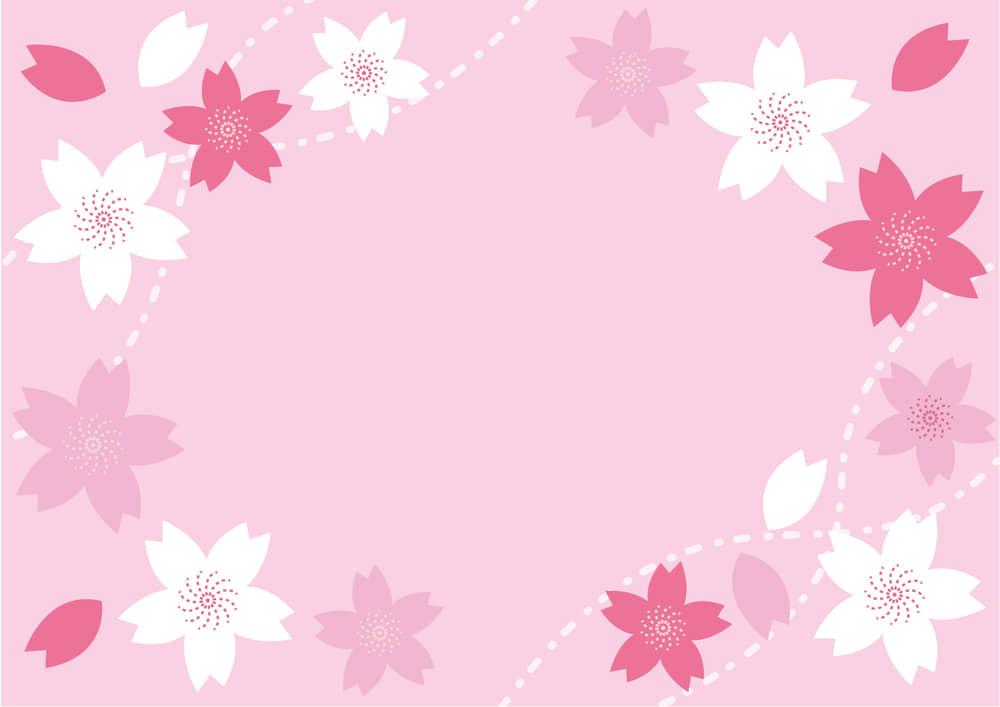 桜の花 フレーム ピンク
