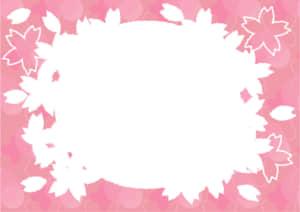 桜型 フレーム ピンク色 イラスト 無料