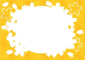 桜型 フレーム 黄色 イラスト 無料