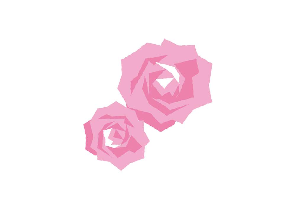 可愛いイラスト無料|カーネーション 正面 ピンク色