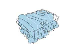 フェイスタオル アイアンのカゴ(籠) イラスト 無料