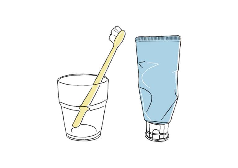 歯ブラシ コップ 歯磨き粉 イラスト 無料