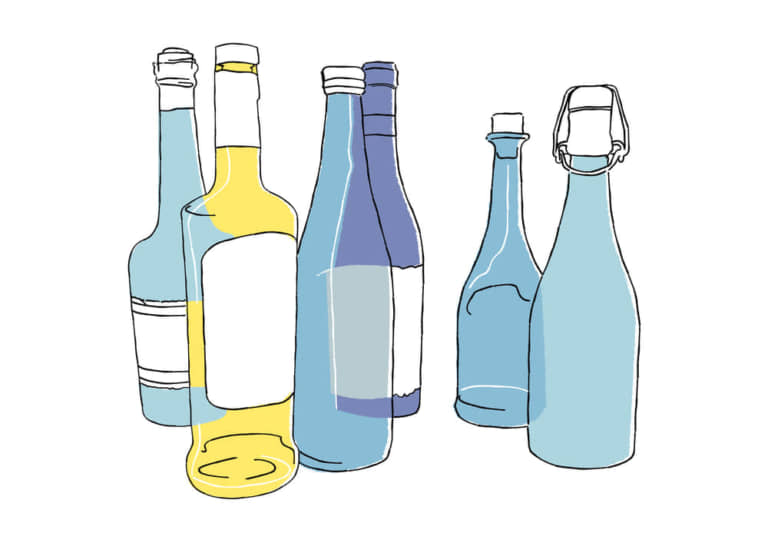 手書き 複数の酒瓶 イラスト 無料 無料イラストのイラストダウンロード