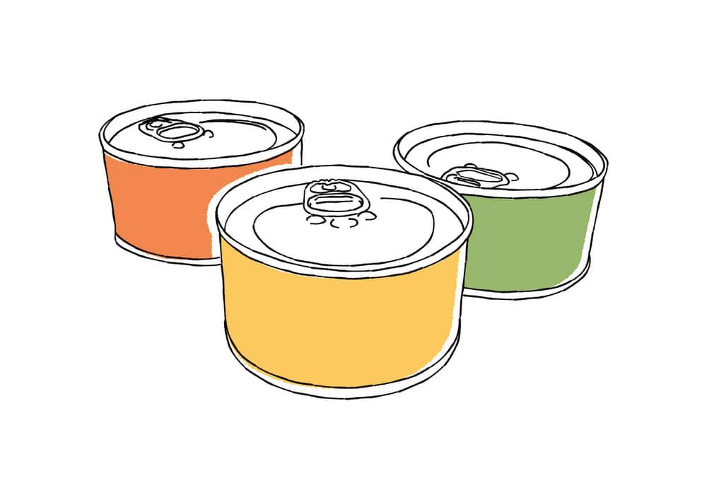 手書きイラスト無料|手書き 缶詰