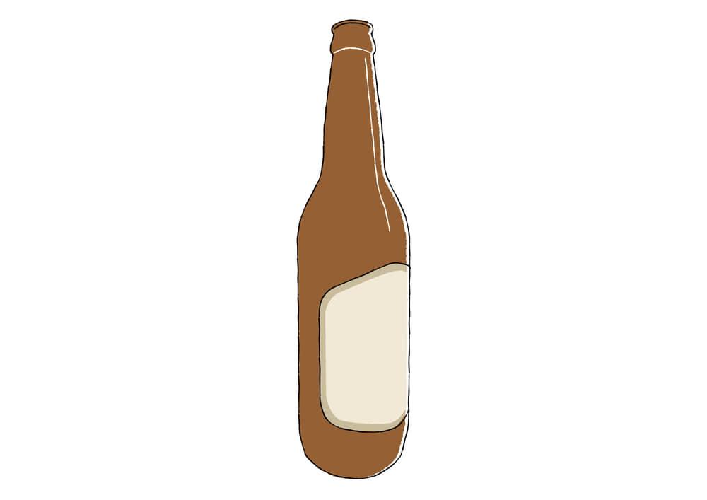 おしゃれなイラスト無料|手書き ビール瓶