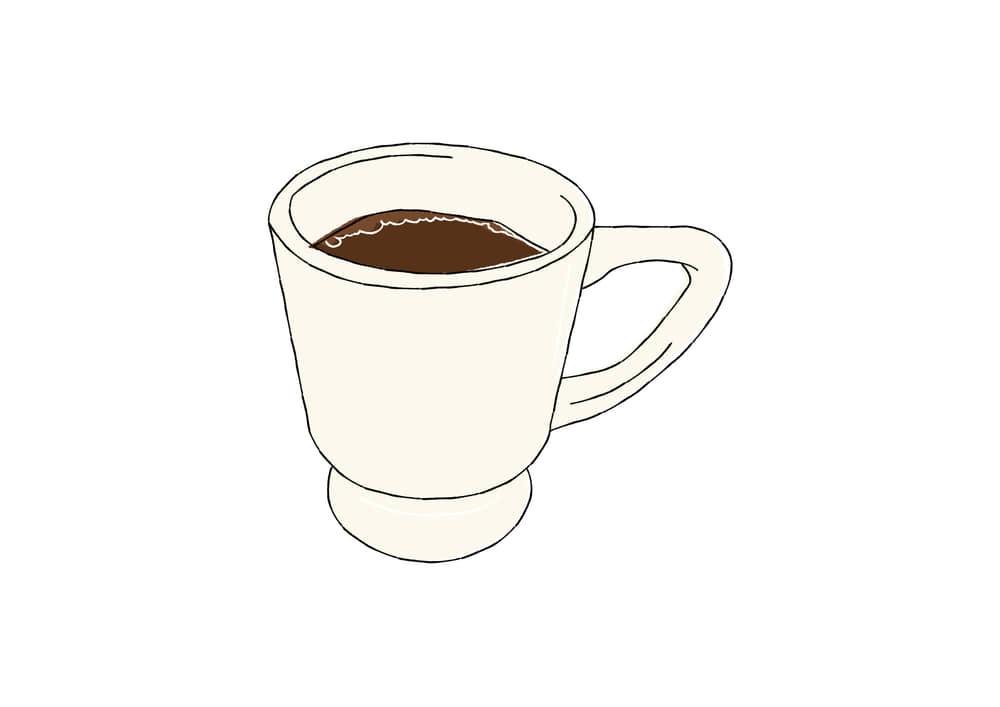 手書きイラスト無料 手書き コーヒー