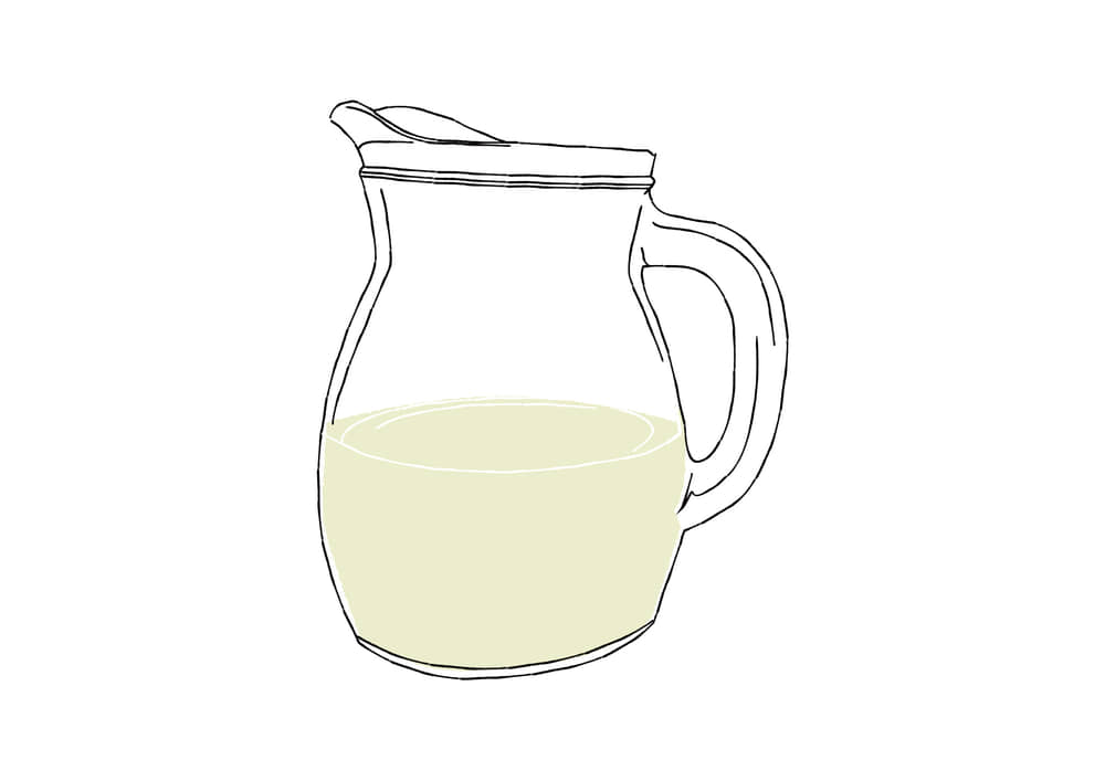 手書きイラスト無料|手書き デキャンタ 白ワイン