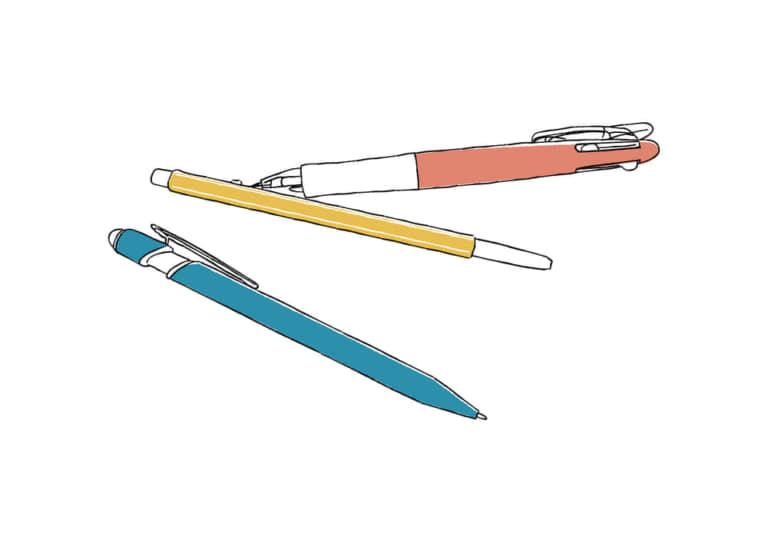 手書き ボールペン 3本 イラスト 無料