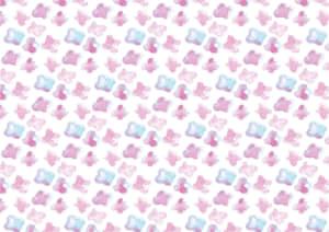 水彩 小花 ピンク色 背景 イラスト 無料