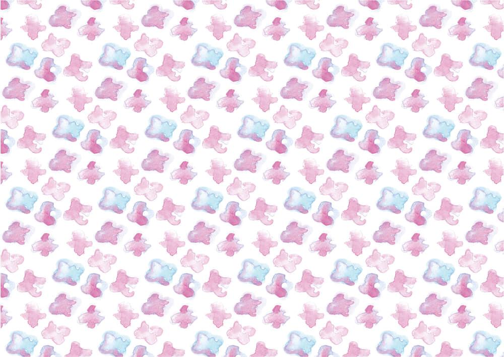 手書きイラスト無料|水彩 小花 ピンク色 背景