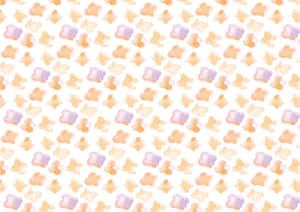 水彩 小花 オレンジ色 背景 イラスト 無料