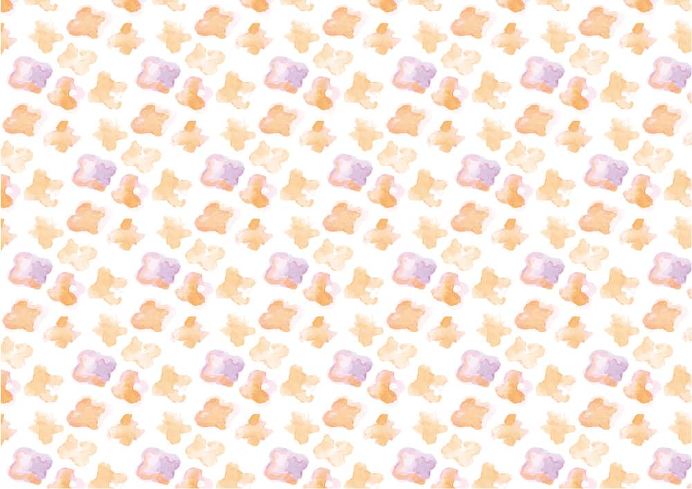 おしゃれなイラスト無料|水彩 小花 オレンジ色 背景