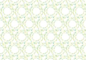 水彩 音符 黄緑色 背景 イラスト 無料