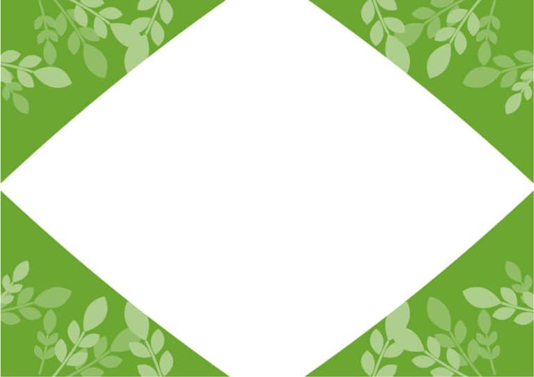 葉っぱ フレーム 緑色 イラスト 無料