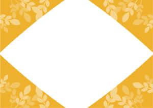 葉っぱ フレーム オレンジ色 イラスト 無料