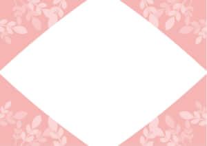 葉っぱ フレーム ピンク色 イラスト 無料